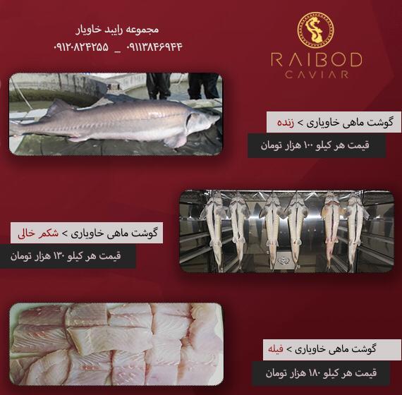 قیمت انواع ماهی خاویاری