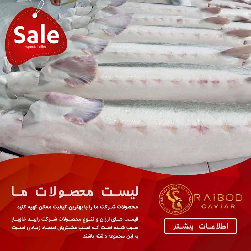 قیمت ماهی خاویار در سال ۹۸