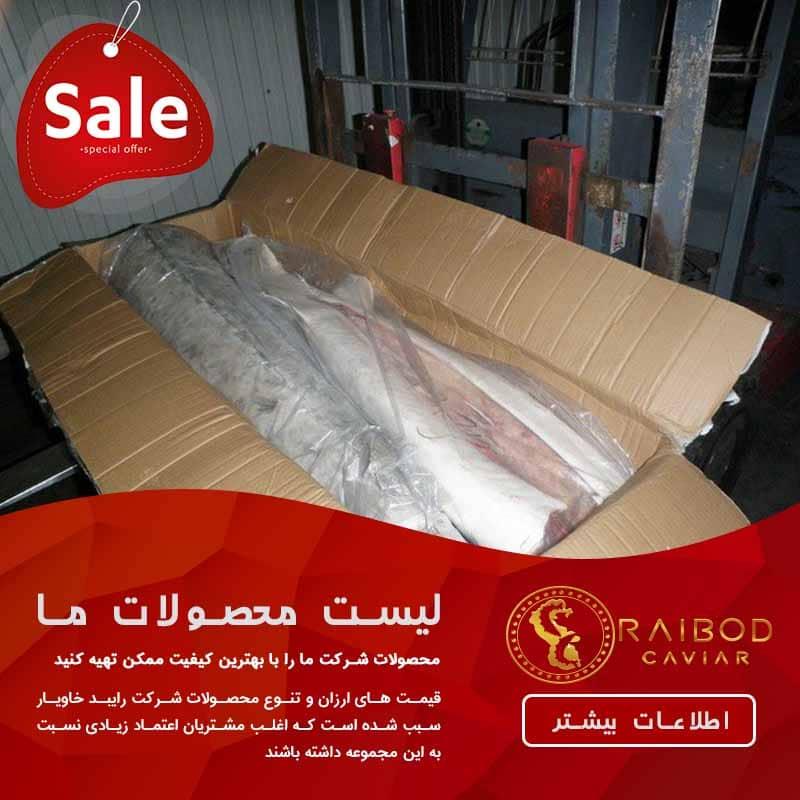 صادرات گوشت فیل ماهی خاویاری