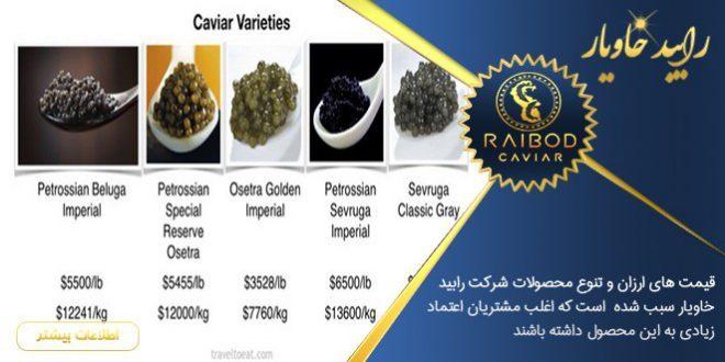 قیمت انواع خاویار در ایران